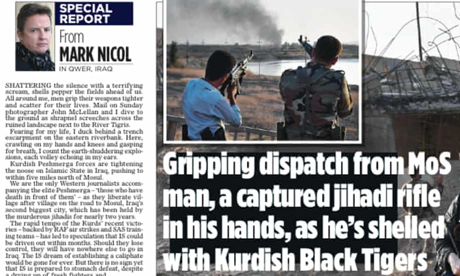 Mark Nicol's article in the Mail on Sunday.