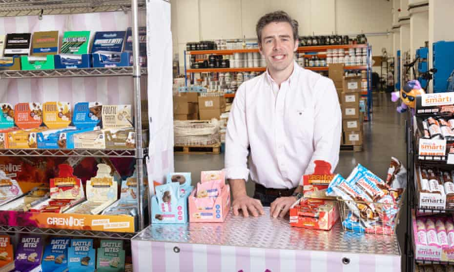 Packed with snacks ... Anthony Rodgers at his Protein Pick and Mix store.