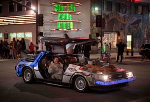 A Back to the Future themed car