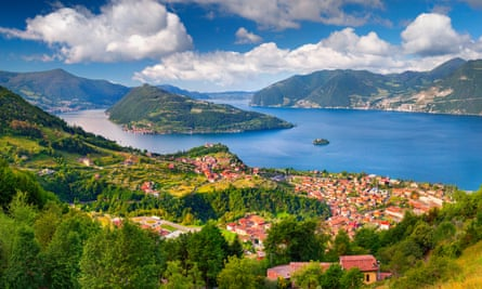 Monte Isolea on Lake Iseo, the largest lake island in Italy.