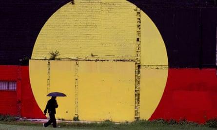 An Aboriginal flag