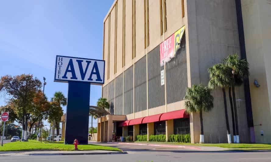 The Hotel Ava, where Juan David Ortiz was apprehended.