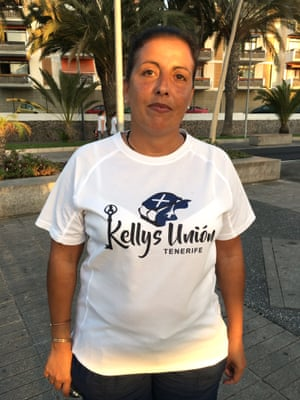Mónica García, local president of Kellys union, which campaigns to improve chambermaids' rights.
