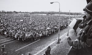26 November 1989, 14:35: An estimated 800,000 people gather for a demonstration in Prague's Letná park, a protest that is credited as being the final nail in the coffin of the communist regime