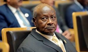 Yoweri Museveni in Addis Ababa in January,