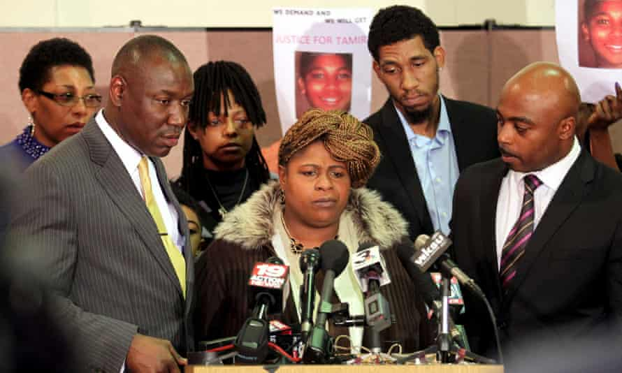 Samaria Rice, the mother of Tamir Rice, speaks during a news conference at the Olivet Baptist Church in Cleveland, Ohio in December.