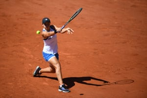 In January 2021 Barty returned to competitive tennis. Saturday's final will be a chance for Barty to achieve her childhood dream of winning Wimbledon. Barty returns the ball to Bernarda Pera in the first round of the French Open earlier this year. She retired hurt in the next round.