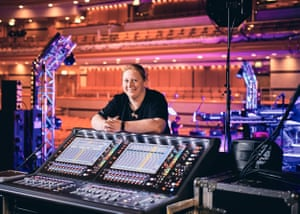 Sound Engineer Kimberly Watson photographed at Birmingham Symphony Hall