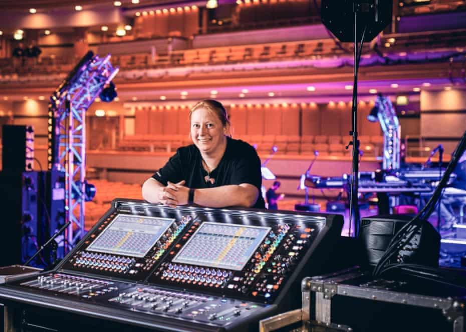 Sound Engineer Kimberly Watson photographed at Birmingham Symphony Hall