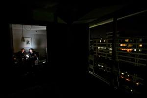A darkened apartment