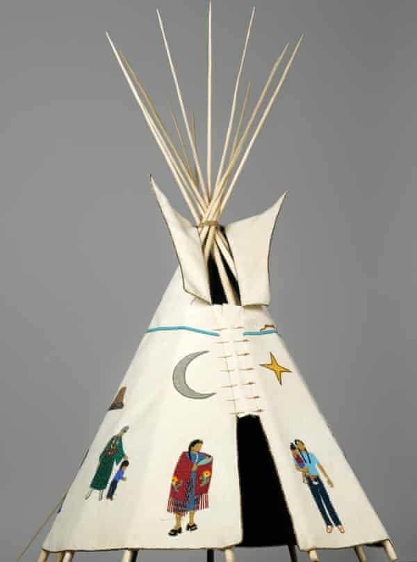 Teri Greeves - 21st Century Traditional: Beaded Tipi, 2010