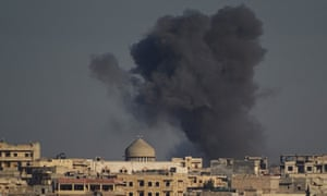 Russian airstrikes hit residential areas in Aleppo on 9 February