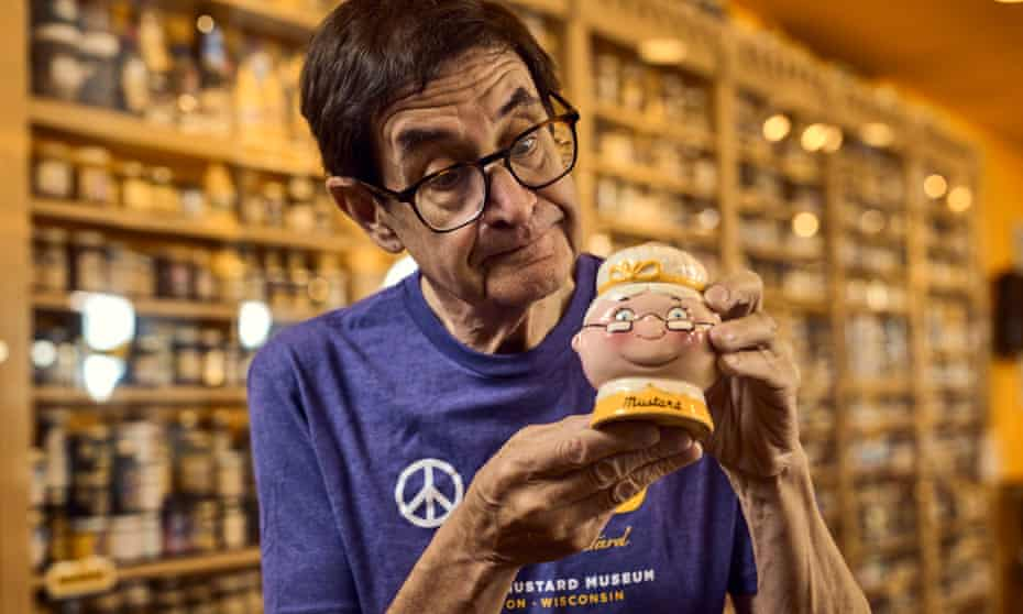 'Mustard is a metaphor. We take it for granted,  but it's full of wonder': Barry Levenson with one of his 6,300 mustard pots.