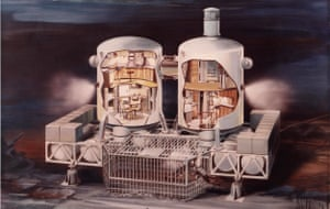 Artist's cutaway view of the Tektite II habitat.