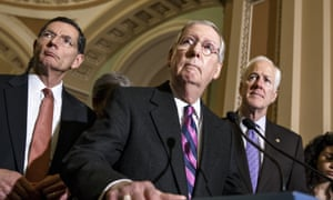 John Barrasso, Mitch McConnell, and John Cornyn: three of the men behind the Senate healthcare bill.