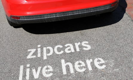 But where is the Zipcar van? Miles away when it's needed.