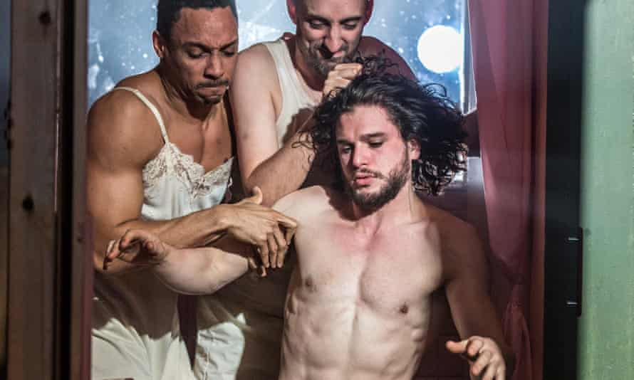 Craig Stein, Tom Edden and Kit Harington in Dr Faustus