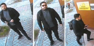 Christopher Ahn, allegedly shown in pictures taken by a surveillance camera at North Korea's embassy in Madrid.