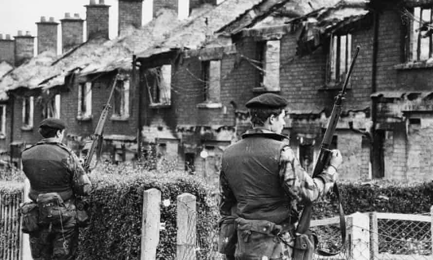British soldiers in Belfast in the 1970s