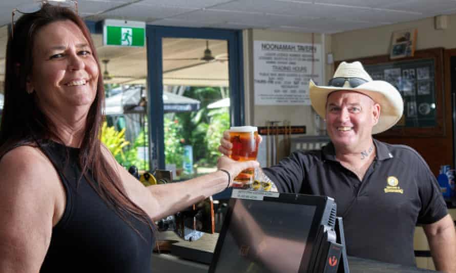 Jules Maclean and Spokz Wheeler at the Noonamah Tavern in Darwin