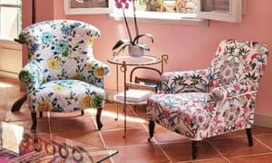 Williamson's typically bright colours and vibrant fabrics at Belmond La Residencia hotel, Deià, Mallorca.
