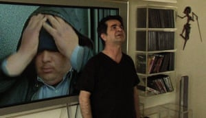 The director Jafar Panahi in his 2011 This Is Not a Film.