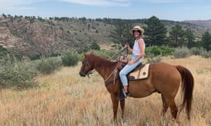 Leanne Best horse riding in Colorado
