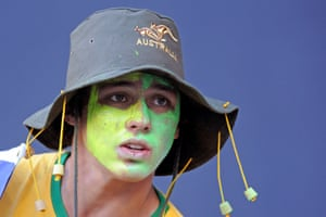 A young fan at the MCG, straight from the outtakes of a lamb ad.