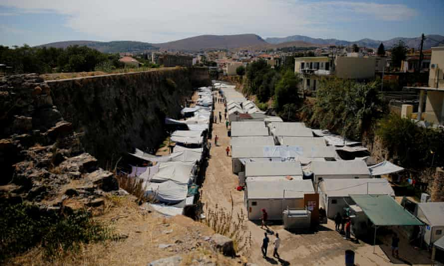 The Souda refugee camp in Chios, Greece