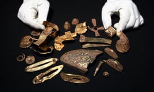 Items from the Staffordshire hoard