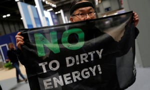 An activist at the UN's COP25 climate change conference in Madrid