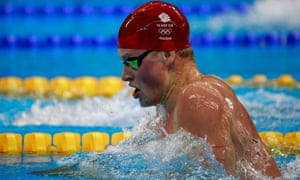 Adam Peaty competes in the men's 4 x 100m medley relay final on day eight of the Rio Olympic Games.