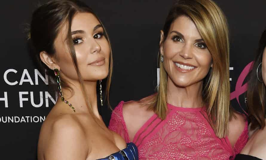 Olivia Jade Giannulli with her mother, Lori Loughlin, on 28 February.
