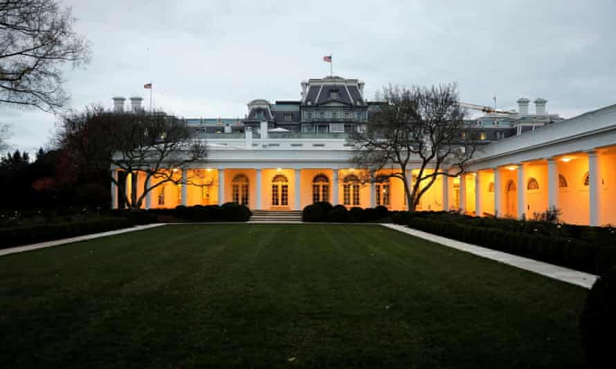 Melania Trump's Rose Garden makeover saw the replacement of the crab apple trees and a new drainage system.
