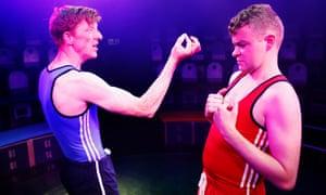 Macho posturing … Gavin Jon Wright and Scott Fletcher in Square Go.