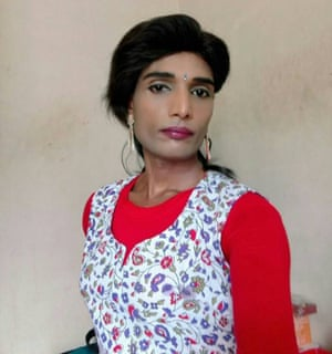 Vincy, una mujer transgénero de Kochi, el estado de Kerala