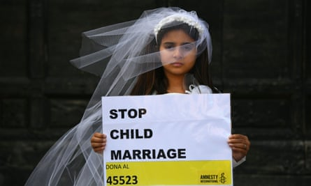 An actor playing a victim of forced marriage
