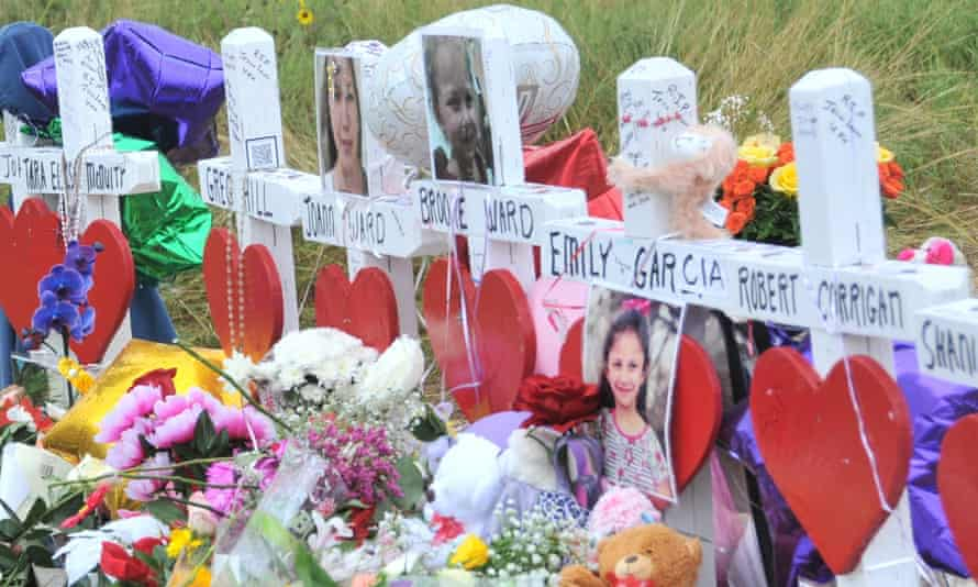 A memorial site for victims killed in the shooting.