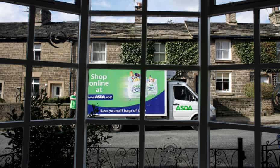An Asda van goes about its deliveries.