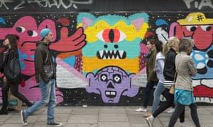 Graffiti street art in Shoreditch has made the area a tourist hub.