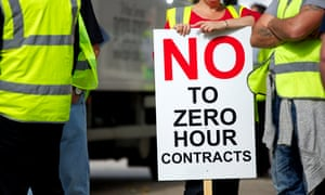 A strike to protest against zero hours contracts in the UK