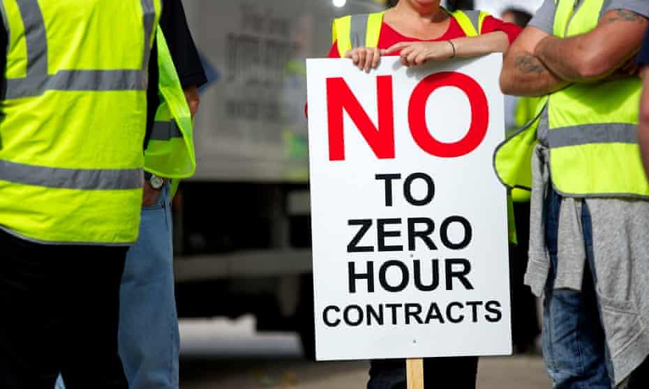 Zero-hours protest