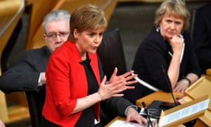 Nicola Sturgeon speaking in the debate in the Scottish parliament on a second independence referendum.