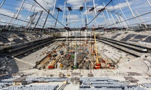 Work continues on White Hart Lane.