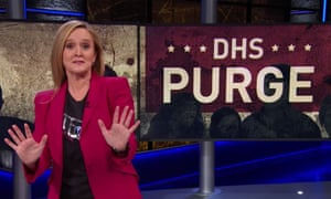 """Samantha Bee: """"With every passing day, Trump is firing more officials with a spine, a conscious, or a sense of shame. But let me be very clear: I'm not saying that Kirstjen Nielsen has any of those."""""""