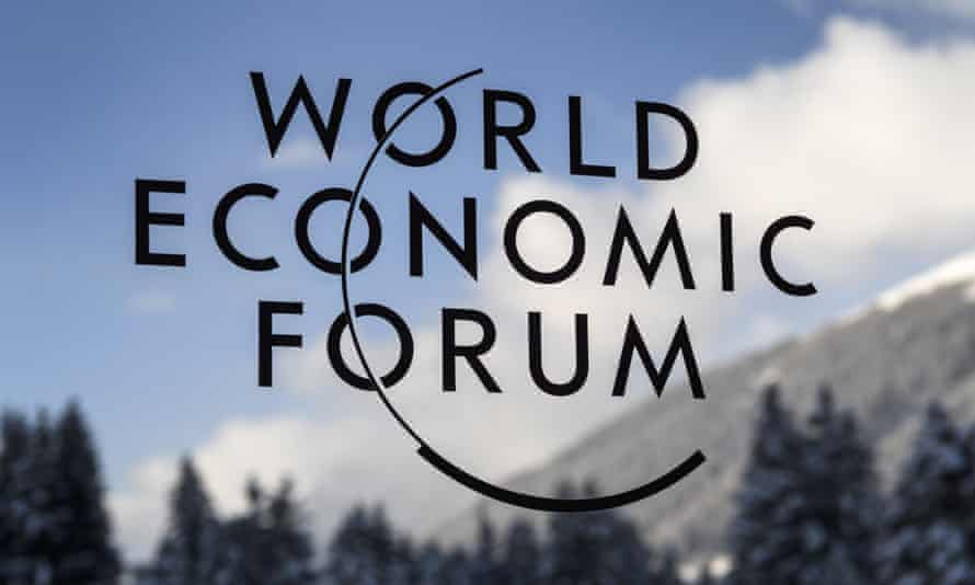 A sign at the World Economic Forum (WEF) in Davos