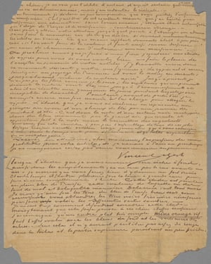 Second page of Van Gogh letter