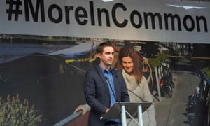 Brendan Cox speaking at the More In Common event.
