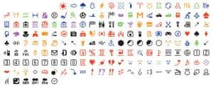 The set of 176 original emoji characters