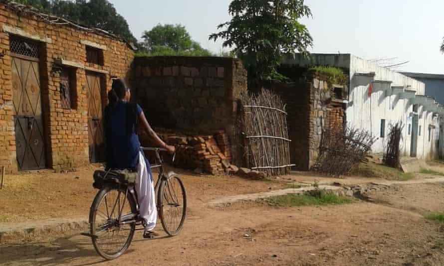 Indian girl bicycle